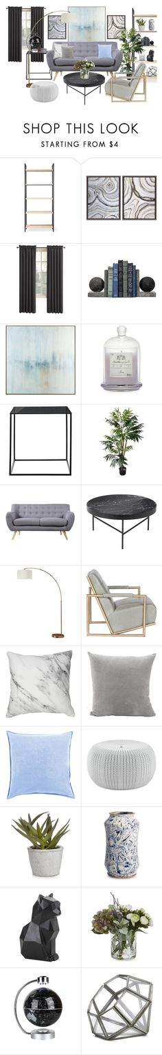 """""""Livingroom"""" by elinesfoster on Polyvore featuring interior, interiors, interior design, home, home decor, interior decorating, Office Star, Shades of Grey by Micah Cohen, Sun Zero and John-Richard"""