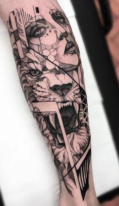 70 Tatuagens de leão Femininas e Masculinas   TopTatuagens Girl Arm Tattoos, Head Tattoos, Badass Tattoos, Mini Tattoos, Body Art Tattoos, Tattoos For Guys, Sleeve Tattoos, Tattoos For Women, Cool Tattoos