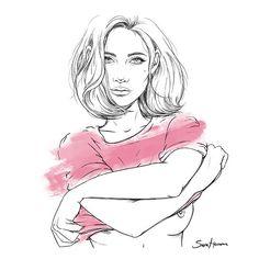 cicatrices de valientes.  me uno a la lucha contra el cáncer de mama donando esta ilustración con la que recaudar fondos para la investigación. podéis participar en el sorteo de la lámina y ayudar a la causa entrando en la web de @glamourspain.  #saraherranz #aecc #diacontraelcancerdemama
