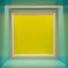Erin O'Keefe, Aqua Grey Yellow Top Light (2011) from the Empty series.
