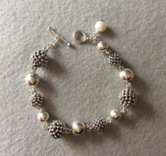 "Michael Dawkins Sterling Silver Granulation Drop Bead 8"" Bracelet - http://chic.designerjewelrygalleria.com/michael-dawkins/michael-dawkins-sterling-silver-granulation-drop-bead-8-bracelet-2/"