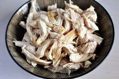 Simple Shredded Chicken: A Quick How-To. Keeping cooked, shredded chicken on hand is crucial to making dinner night a pleasure and not a pain.