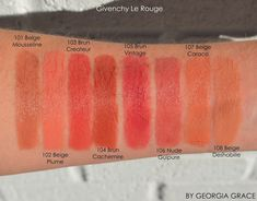 Givenchy Le Rouge Swatches of All Shades 1.1