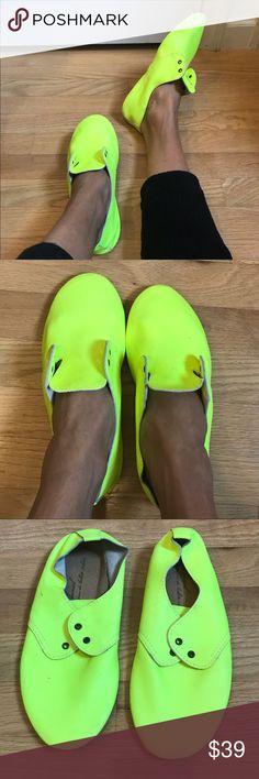 Neon Anniel Leather flats Have laces indicate color preference. Unworn, good condition. Anniel Shoes Flats & Loafers