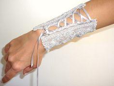 Gray Wrist Cuff by RomanticRona on Etsy, $34.00