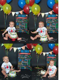 birthday boy cake smash // primary colors cake smash // Blue Bird Photography Clarkston MI
