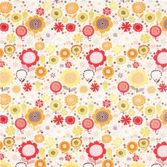 white autumn flower fabric by Timeless Treasures