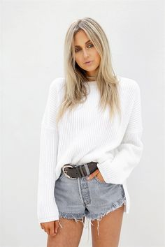Buy Dove Ribbed Knit Online - Knitwear - Women's Clothing & Fashion - SABO…