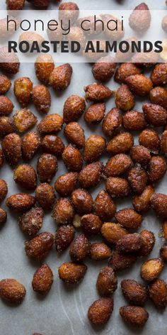 Honey Chai Roasted Almonds @sweetpeasaffron