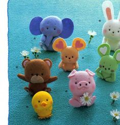 Japanese felt The New Design felt mascot toys-sewing pattern,PDF-file,Instant Download,E-Book#4