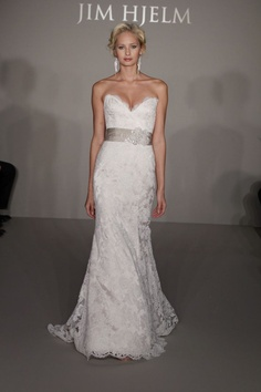 Jim Hjelm - love the fit and flare, don't like the sweetheart neckline. Love the deep sweet heart