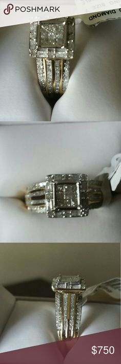 DIMOND RING SIZE 7 1CTTW Dimond Ring 10K  Yellow Gold Size 7 Jewelry Rings