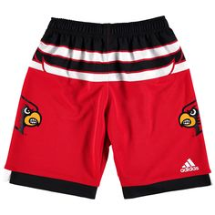 Louisville Cardinals adidas Youth March Madness Basketball Shorts - Red - $31.99