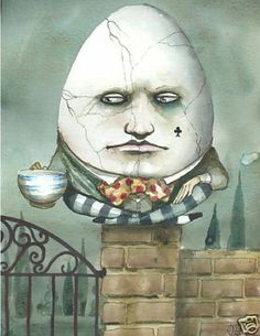 Humpty Dumpty Alice in Wonderland Art