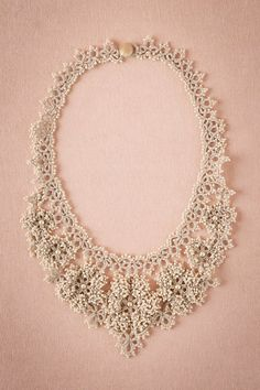 Camellia Crochet Necklace $280.00