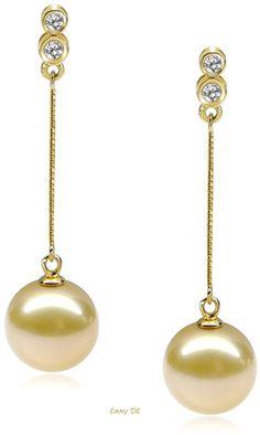 Emmy DE * 18K Diamond South Sea Pearl Earring By Hang Yuen Jewellery Limited