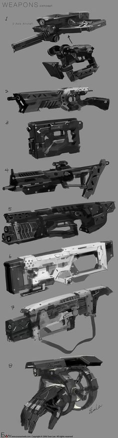 ArtStation - Weapons_Sketches, Evan Lee