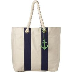 Anchor Tote (43 BAM) ❤ liked on Polyvore featuring bags, handbags, tote bags, beach tote, pink tote bags, woven beach tote, striped beach tote and diaper tote bags