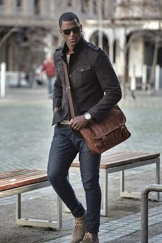 Gents Leather Satchel - Mat & May