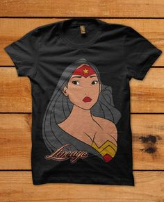 Beautiful Pocahontas As Wonder Woman T-Shirt