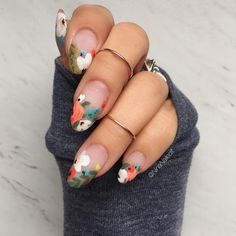 """4,362 Likes, 67 Comments - Nina Park. Nail Art. Boston. (@ninanailedit) on Instagram: """"Florals and negative space. You know the drill 🌸 I used my fave @pearnova, @smithandcult, and…"""""""
