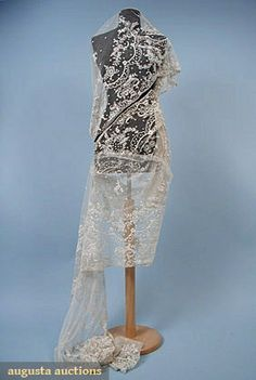Tw0 Handmade Lace Flounces, C. 1900, Augusta Auctions, March/April 2005 Vintage Clothing & Textile Auction, Lot 875
