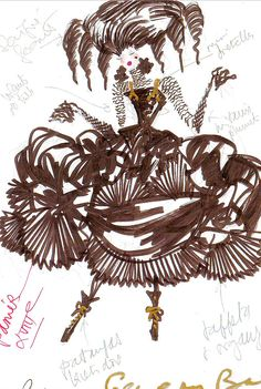Christian Lacroix sketch | The House of Beccaria~