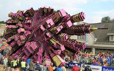 Towering Sculptures Made of Flowers on Display at Bloemencorso, A Flower Parade in Zundert, Netherlands