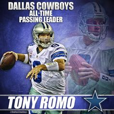 Tony Romo has just passed Troy Aikman to become the Cowboys All-Time passing leader.