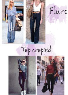 Looks com calça jeans de cintura alta - Outfits with high waist denim
