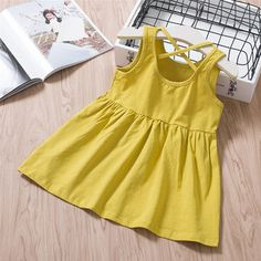 Soft Cotton Toddler Girls Sleeveless Casual Comfy Dresses For is cheap, come to NewChic and buy cute flower girl dresses now! Cute Flower Girl Dresses, Girls Dresses, Summer Dresses, Comfy Dresses, Casual Dresses, Kids Jewelry, Kids Bags, Kid Shoes, Boy Outfits
