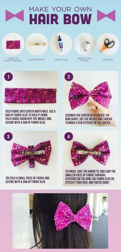 DIY Hair Bow diy craft crafts diy crafts kids crafts diy bows kids diy craft bow hair crafts easy craft ideas easy bow