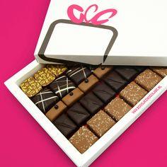 Bonbons Melk - Puur • Gemengd Middel | Geen liefhebber van witte chocolade, maar des te meer van melk en puur? | doosjechocolade.nl