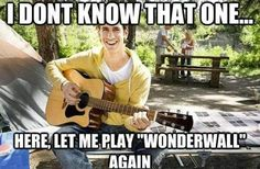 LOL that's so disappointing!! you get your hopes up when you see a guy with a guitar and it almost always ends up this way