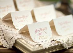 Escort Cards  Calligraphy  Hand Lettering by LavenderCalligraphy, $2.50