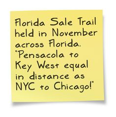 5526b661c32 FloridaSaleTrail.com inaugural event begins November 2016! Put it in your  calendar today!