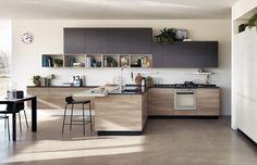 Cucine effetto legno per un ambiente caldo ed elegante - Cose di Casa