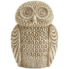 Pier 1 Embossed Ceramic Owl is ready to perch on a patio