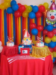 """Photo 9 of Carnival/Circus / Birthday """"Belle's Big Top is in town"""" backdrop for photo booth Clown Party, Circus Carnival Party, Circus Theme Party, Carnival Birthday Parties, Circus Birthday, First Birthday Parties, Birthday Party Themes, First Birthdays, Circus Theme Decorations"""
