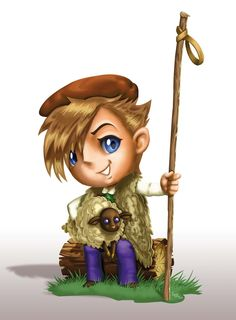 chibi young shepherd concept art all rights reserved Laurent Miny 2017