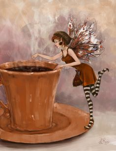 Coffee Fairy by ~ Lydia888