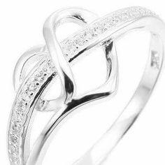 Goldmaid ring 925er Sterling plata 50 circonita Black /& White glamour real joyas