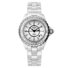Trendy White Crystal Ceramic Women Watch