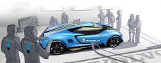 Volvo Polestar GTE 24H Le Mans by Won Choi | motivezine