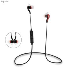 TryAce®M1 Sports Wireless Bluetooth4.1 Headphone Music Stereo Earphone Noise Cancelling Headsets Built in Microphone Volume 3 Color for Choose (black/red)