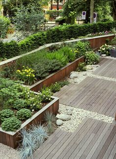 17 incredible modern garden deck ideas to makes backyard home fresh find out create a contemporary garden design with 15 excellent choices! Gravel Landscaping, Modern Landscaping, Landscaping Design, Modern Landscape Design, Modern Garden Design, Contemporary Garden, Abstract Landscape, Small Gardens, Outdoor Gardens