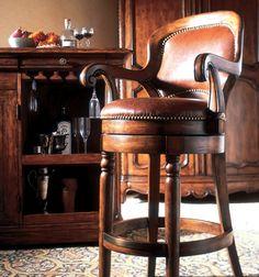 Handsome swivel bar stool
