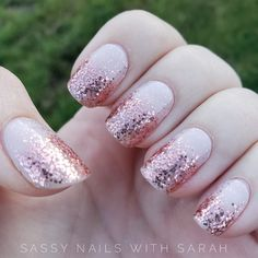 This mani is so beautiful! It is the perfect neutral with a rose gold pop! Click the pin to request a sample or get the same look for yourself! Pretty Nail Designs, Short Nail Designs, Nail Art Designs, Fancy Nails, Cute Nails, Pretty Nails, Nail Color Combos, Nail Colors, Rose Gold Nails