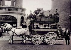 In the past London was filled with carriages like this one, but motorised vehicles spelled the end for them
