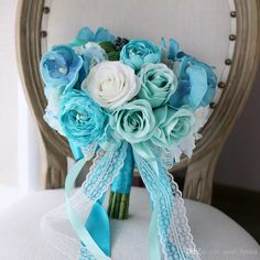 Vintage Blue Phalaenopsis Bridal Bouquets with Lace Ribbon 2017 Rose Hydrangea Bacca Country Beach Wedding Decoration Supplies Hand Flower Bride Holding Brooch Bouquet Mori Bride Bouquet Artificial Wedding Bouquet Online with $99.43/Piece on Sarah_bridal's Store | DHgate.com